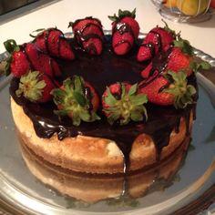 Strawberry New York cheesecake !