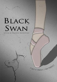 Black Swan 2010, Darren Aronofsky, Movie Black, Alternative Movie Posters, Minimalist Poster, Movies, Posters, Black Swan, Drawings