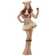 Giraffe Adult Costume ($53) ❤ liked on Polyvore featuring costumes, tops & t-shirts, giraffe halloween costume, giraffe costume, animal costumes, colorful halloween costumes and white costume
