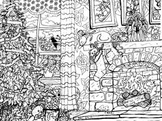 detailed christmas coloring pages christmas coloring page by melanie76 on deviantart - Detailed Christmas Coloring Pages