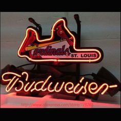 106.30$  Buy now - http://alibwi.worldwells.pw/go.php?t=32608813176 - Neon Sign Baseball Budweiser Advertising Neon Light Sign Bar Pub Decorate Store Display Beer Sign Neon Sign Arcade neon 17x14