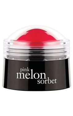 Pink melon sorbet lip balm by Philosophy.