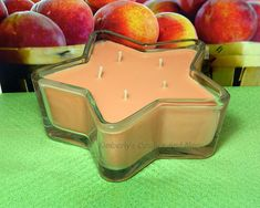Georgia Peach PURE SOY Star Container Candle 11 oz.