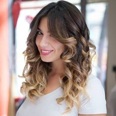 Long Curly Hairstyle With Ombre Highlights