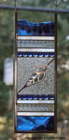 Abstract Nautical Stained Glass Suncatcher/Panel