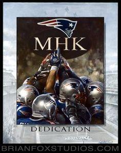 #MHK painting by Brian Fox. Commissioned by Matt Light & the #Patriots & presented to Robert Kraft last season.