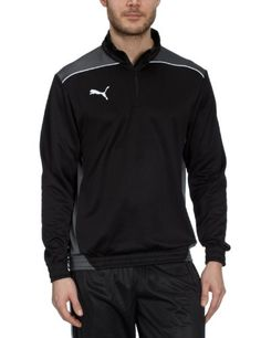 PUMA Herren Langarmshirt Foundation Half Zip Top, Black-Dark Shadow, S,  653384