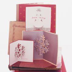 carte de vœux pop-up- bonhomme de neige et flocons 3D