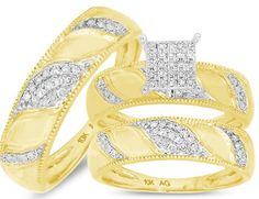 10k diamond engagement ring set for only $780