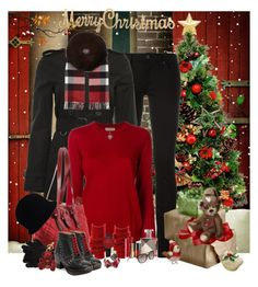 """""""Merry Christmas to All!♡"""" by denisewood ❤ liked on Polyvore featuring Burberry, Chanel, Lelli Kelly, Polo Ralph Lauren, Brooks Brothers, Federica Tosi, Alex Soldier and Lancôme"""