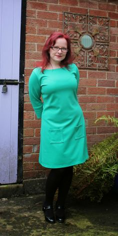 Lynne's emerald Coco dress - I would wear this every day! I'm really loving Tilly's new Coco pattern