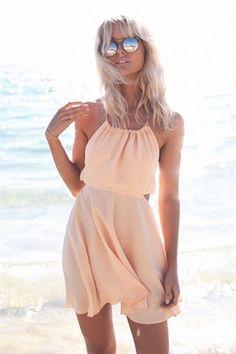 Shari Halter Dress - Melon - SABO SKIRT
