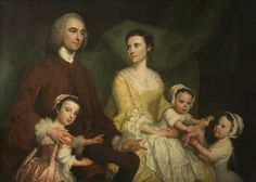 1755 George Knapton - Dr Samuel Walthen with His Wife and Children