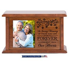 Wooden Cremation Urn for Adult Ashes in Loving Memory Keepsake Urn Hand Finished for Home or Niche At Columbarium DaySpring Premier