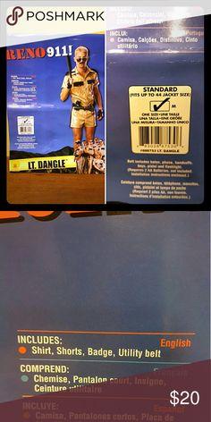 Adult Halloween Costume Reno 911 Lt. Dangle Adult Male Ltd. Dangle Complete Costume Other