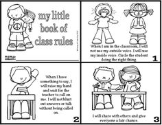 Class Rules Minibook from Having A Fields Day on TeachersNotebook.com (5 pages)