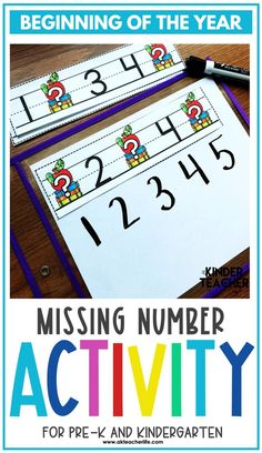 Counting math centers for the beginning of the year for kindergarteners. Using hands-on activities, students will practice counting and identifying numbers 1 to 10 using ten frames, their fingers, drawing pictures, and partner activities. Discover new ways to teach these concepts and download a freebie too! Kindergarten First Week, Kindergarten Special Education, Number Sense Kindergarten, Number Sense Activities, Counting Activities, Kindergarten Worksheets, Hands On Activities, Student Learning, Pictures To Draw