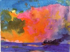 dappledwithshadow: Sea with Colorful Sky, Emil Nolde, s.d.