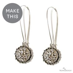 Yet another bling project!  This pair of earrings is oh-so-classic, that even if you are anti-bling you have got to love it.  Download this free tutorial and be converted!