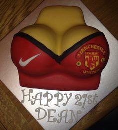 Boys cake! Manchester United boobs!