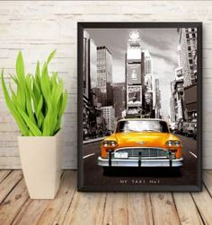 Poster Vintage Taxi NY - 30x40cm