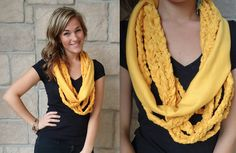 "Braided scarves that will be available on our ""shop now"" tab on FB very soon!"