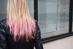 "Pink dip-dye | T60/PINK | 100% Remy Human Hair Extensions | Double Wefted 18"" Extensions 