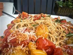 Recipe: Garlic and Herb Roasted Tomato Spaghetti - GKskinnypasta