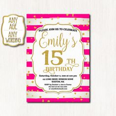 15th birthday invitation fifteenth birthday gold by coolstudio 15th birthday invitation fifteenth birthday gold by coolstudio filmwisefo