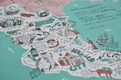 Mexico Map by Stuart Hill