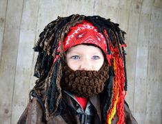 Pirate Wig Boy Halloween Costumes Pirate Headpeice Photo Prop | Etsy Pirate Halloween Costumes, Pirate Hats, Photo Props, Pirates, My Design, Wigs, Braids, Beanie, Hair Styles