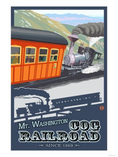 Mount Washington, New Hampshire - Cog Railroad Premium Poster