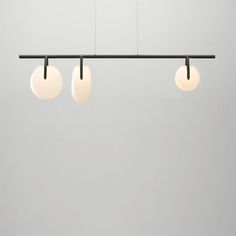 Chandelier lamp by American lighting designers Rich Brilliant Willing with blobs of glass that dangle from aluminium rods. Chandelier, Lighting Design, Hanging Lights, Chandelier Lighting, Artwork Lighting, Glass Bulbs, Ceiling Lamp, Floor Lamp Table, Lighting Trends