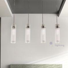 lampada sospensione lampadario moderno acciaio cromato cristallo ... - Lampadario Sospensione Cucina