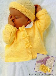 Baby Knitting Patterns Dress Jimmy Baby Sweater Set Free Knitting Pattern at Jimmy Beans Wool Baby Sweater Patterns, Knit Baby Sweaters, Knitted Baby Clothes, Baby Patterns, Knit Patterns, Baby Knits, Knitted Baby Cardigan, Cozy Sweaters, Knitting For Kids