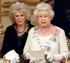 Camilla wearing Tiara Queen Elizabeth Image (C) Getty Images, Splash, Reuters, AP, Rex, PA