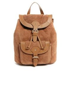 ASOS Leather Vintage Style Backpack