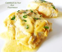 Cabillaud rôti à la moutarde - Shellfish Recipes, Seafood Recipes, Cooking Recipes, Food Porn, Healthy Snacks, Healthy Recipes, Salty Foods, Fish Dishes, Fish And Seafood