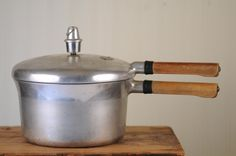 1950s Era Pressure Cooker - Mom always seemed a bit nervous to use this.