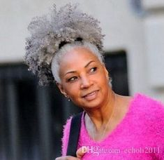 real hair gray puff kinky ponytail hair extension clip in Remy afro kinky curly drawstring ponytails grey hair piece Afro Ponytail, Black Ponytail Hairstyles, Black Women Hairstyles, Short Hairstyles, Famous Hairstyles, Curly Haircuts, Ethnic Hairstyles, Grey Hair Extensions, Ponytail Hair Extensions