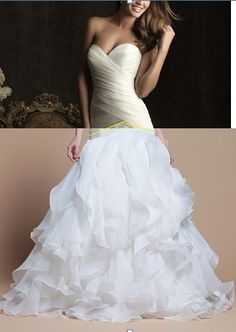 custom made sweetheart neckline satin organza floor-length wedding dress