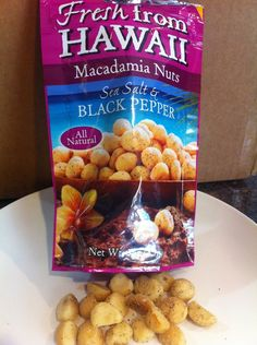 Salt and Pepper Macademia Nuts: Of all nuts, macademias have the highest amount of heart-healthy monounsaturated fat. These nuts are buttery and delicious.