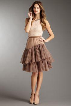 BCBGMAXAZRIA Techno Mesh Skirt - own and love!