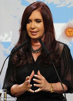 Argentine President Cristina Fernandez de Kirchner has been very outspoken about the Falklands and has demanded negotiations with Britain Just to boost her popularity at home...