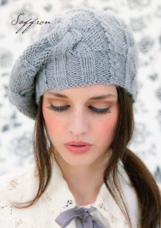 Beautiful Louisa Harding beret. Free pattern here: http://blog.loveknitting.com/two-free-louisa-harding-patterns-exclusive-saffron-hats/