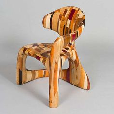 Asymmetrical Patchwork Seating - The Corsica Chair is Elegantly Organic and Rustic (GALLERY)