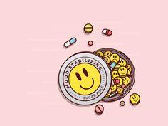 Sugar Pills designed by Happy Impulse™. Simpson Wallpaper Iphone, Wallpaper S, Mini Canvas Art, Cute Anime Character, Happy Pills, Dope Art, Kawaii Art, Aesthetic Anime, Aesthetic Pictures