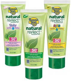 Banana Boat Natural Reflect Sunscreen Lotion SPF 50: http://beautyeditor.ca/2014/07/16/best-natural-sunscreen/