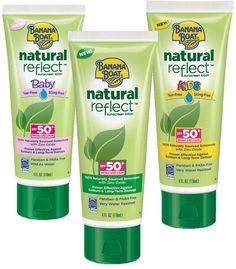 Banana Boat Natural Reflect Sunscreen Lotion SPF 50: http://beautyeditor.ca/2014/07/16/best-natural-sunscreen/
