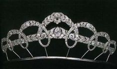 Cartier Loop Tiara (also known as  Lukeshmuke tiara) belonging to Her Majesty, Sofia, The Queen of Spain